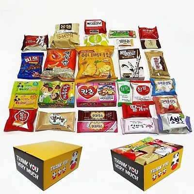 "Korean Popular snacks. All(29pcs) in One Box.(""THANK YOU"" BOX)"