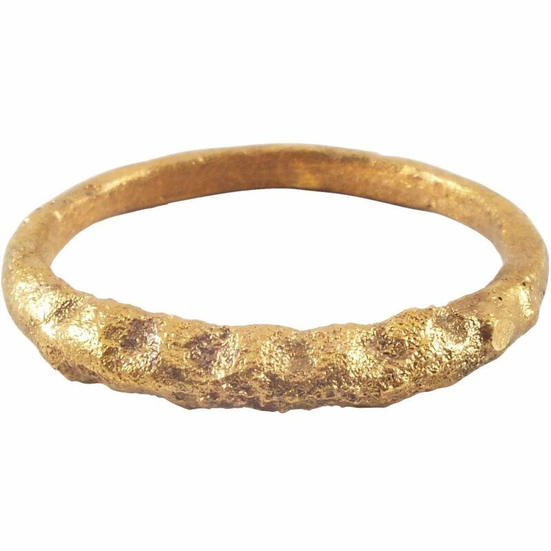 VIKING TWISTED MOTIF RING 850-1050 AD SIZE 9