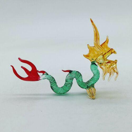 Naga Dragon Glass Figurine Animal Hand Blown - GTDG031