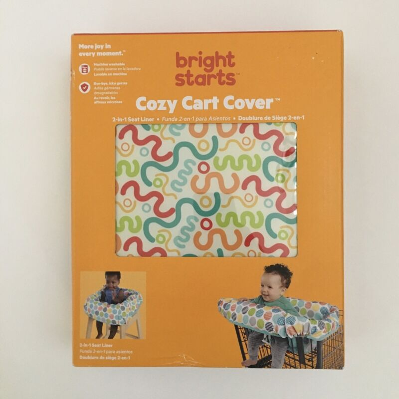 NEW Bright Starts Cozy Cart Cover Grocery Store Cart Comfort or High Chair Use