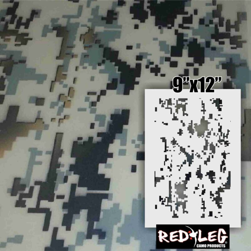 Redleg Camo ™ Timber Thicket 2 piece duck boat camo stencil kit