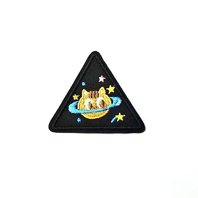Cat Planet Patch Iron-On/Sew-On Embroidered, Kawaii, Punk Grunge Goth Alt Cute