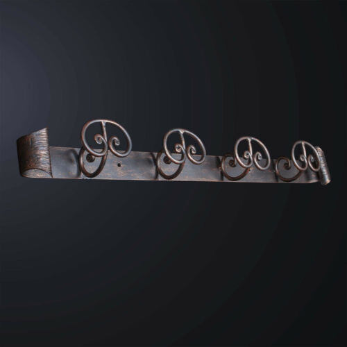 Hanger Wall Wrought Iron Classic 4 Places Bga 3175-4