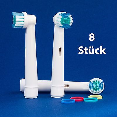 8 x Aufsteckbürsten für Oral B Precision Clean - Ersatzbürsten - Zahnpflege