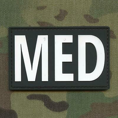 MED paramedic EMS medic PVC rubber morale tactical IFAK hook patch