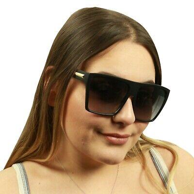 ShadyVEU Oversized Fashion Retro Tortoise Frame Kim K Flat Top Womens (Kim K Sunglasses)