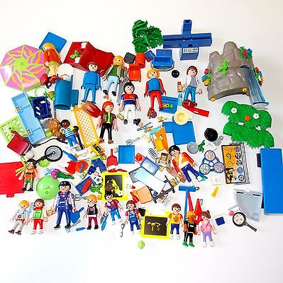 PLAYMOBIL Huge Parts / Pieces Lot 18 People- Broom Backpack Drum Plate Castle