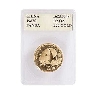 1987S - 1/2oz Chinese Gold Panda .999 - Certified Panda-Pak