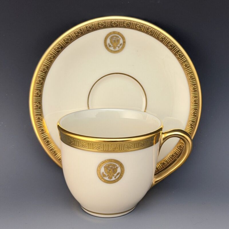 Lenox Vice Presidential China Cup & Saucer Clinton Gore Bush Cheney White House