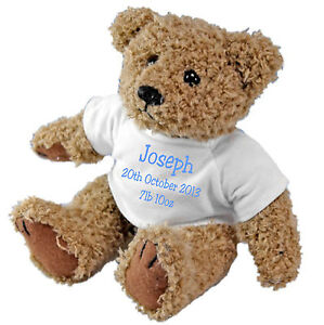 Newborn-Baby-Birth-Christening-Personalised-Teddy-Bear-with-a-Gift-Bag