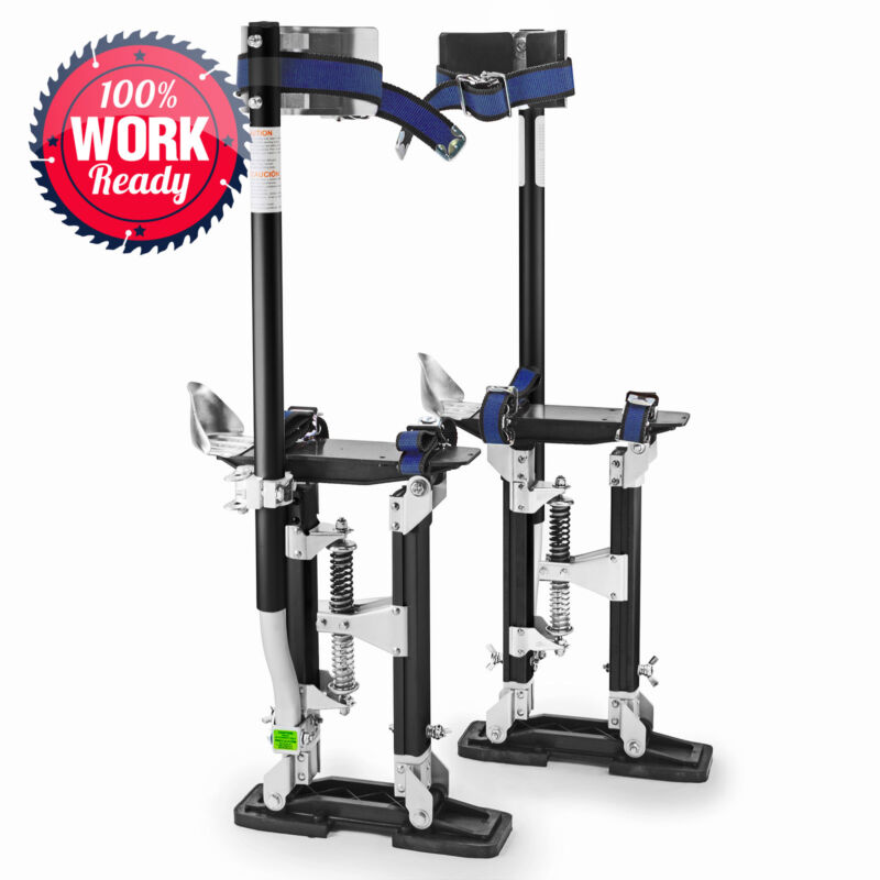 "Drywall Stilts Painters Walking Finishing Tools - Adjustable 18"" - 30"" Black"