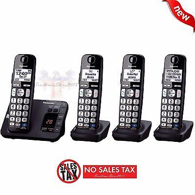 Panasonic KX-TGE234B 4-Handset Landline Cordless Digital Caller ID Office Phone