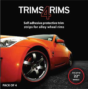 RED Trims4Rims by Rimblades-Alloy Wheel Rim Protectors/Rim Guards/Rim Tape