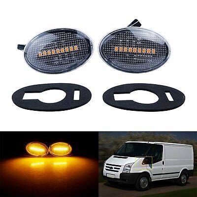 Clear lens LED Side Repeater Indicator Light Fit Ford KA Transit Tourneo MK6 MK7