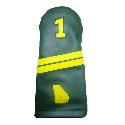 Augusta Theme Sunfish Leather Golf Driver Headcover ](Golf Theme)