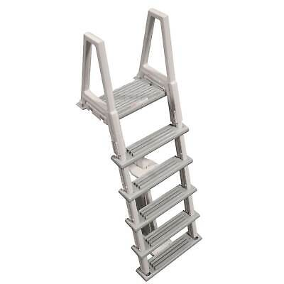 Confer HD Above-Ground 46-56 Inches Swimming Pool Ladder, Gray (Open Box)