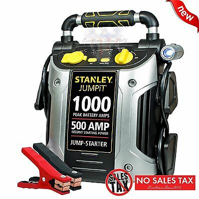 (Battery Charger 1000 Peak Amp Auto Jump Starter Booster Portable Power Pack Car)