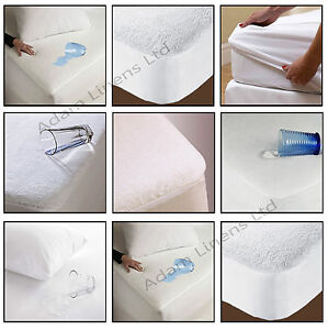 Waterproof-Terry-Towel-Mattress-Protector-Fitted-Sheet-Cot-Single-Double-King