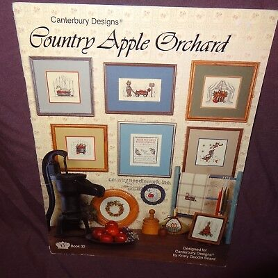 Country Apple Orchard Cross Stitch Pattern Leaflet Book Canterbury Designs 1985