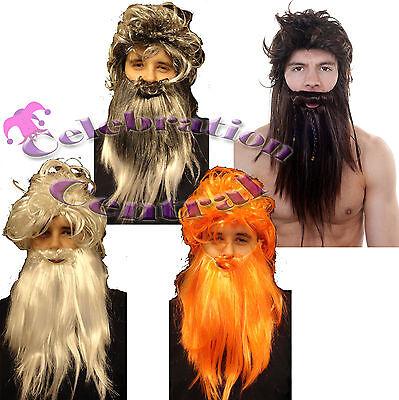WIG AND BEARD SET CAVEMAN GANDALF SANTA SCOTSMAN HIGHLANDER OLD MAN JESUS MOSES](Old Man Wig And Beard)