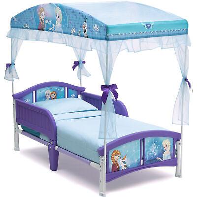 Toddler Canopy Bed Children Disney Frozen Plastic Purple toy play fun kids sleep