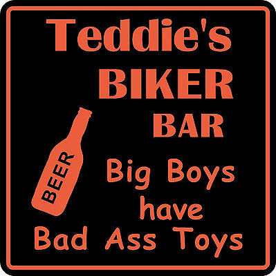 Personalized Custom Name Motorcycle Biker Bike Big Boys Beer Bar Gift Sign  8
