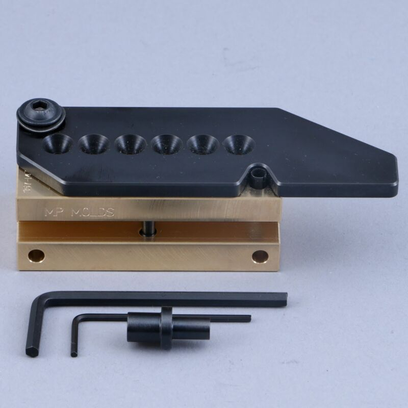 MP Bullet Mold 6 Cavity Brass Mold  9mm 147gr Flat Round Nose Plain Base NLG