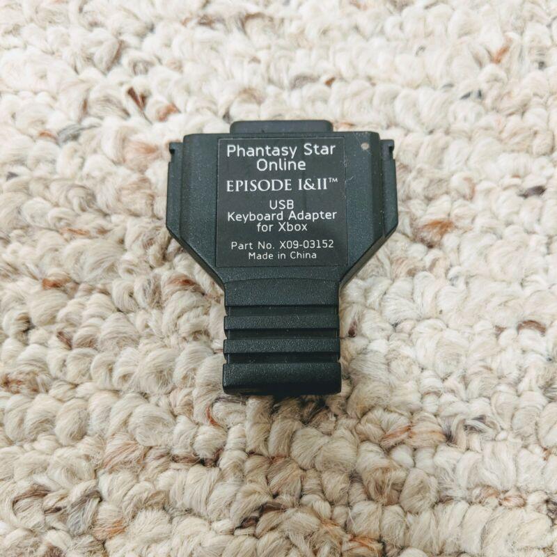 Phantasy Star Online Keyboard USB Adapter for Xbox Untested Rare