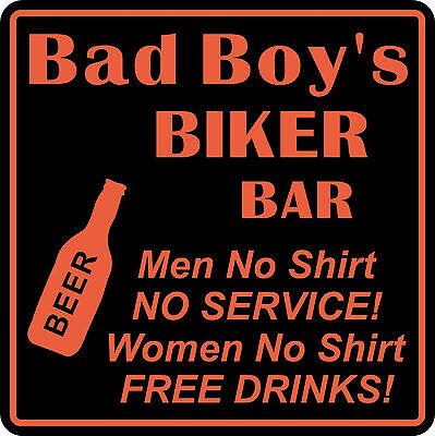 Personalized Custom Name Motorcycle Biker Bike Women No Shirt Bar Gift Sign  2