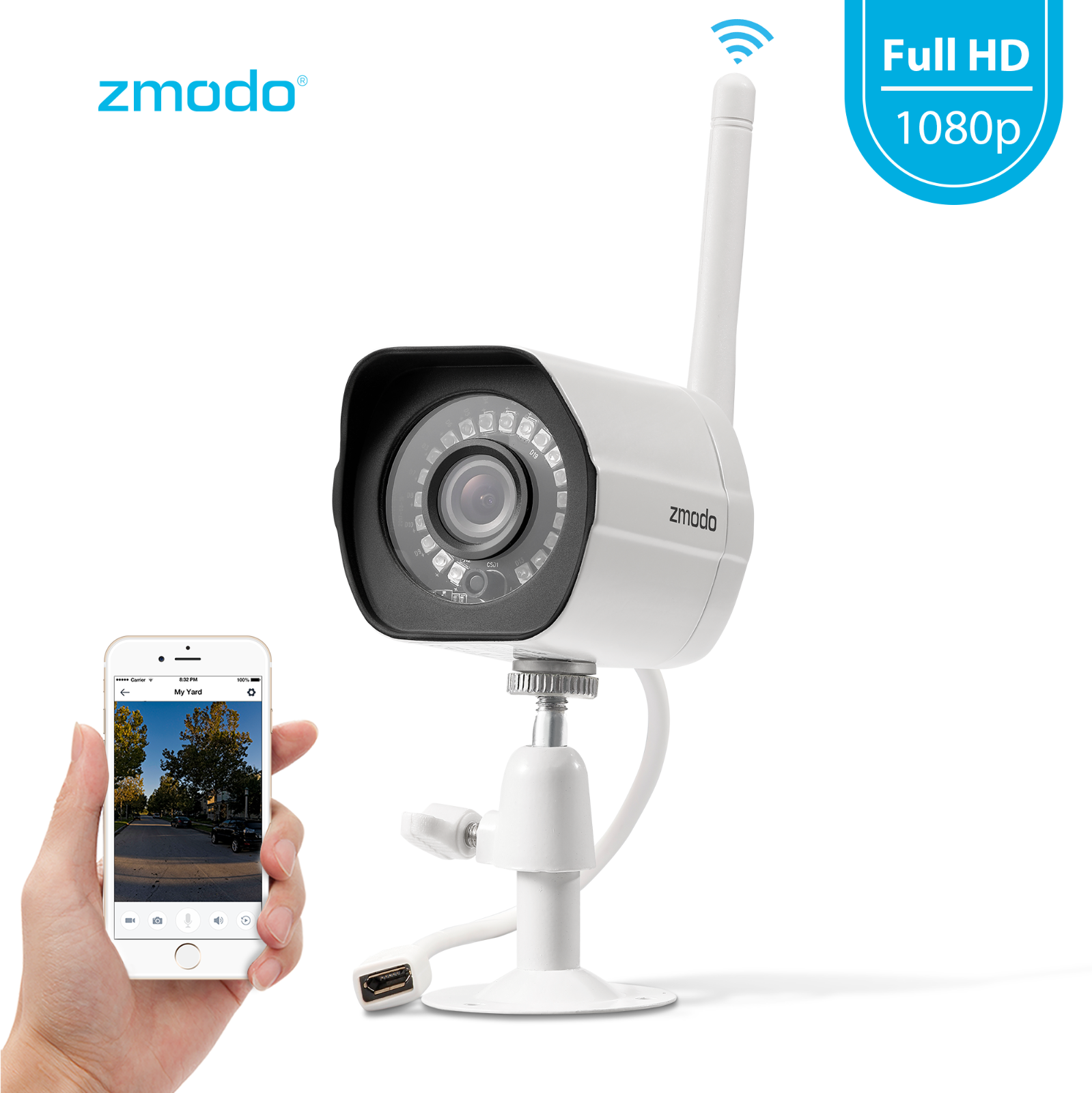 Zmodo 1080p Wireless Outdoor Home Security Camera,Night Vision Remote Monitoring