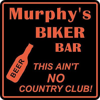 Personalized Custom Name Motorcycle Biker Bike No Country Club Bar Gift Sign  1