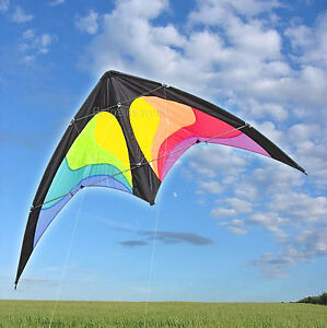 1.6m PRO DELTA POWER STUNT KITE 2 LINE POWERFUL EASY TO FLY LARGE 63