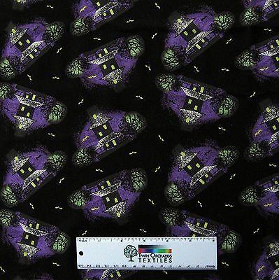 Halloween Fabric - Westminster Haunted House Toss - Free Spirit Cotton 34