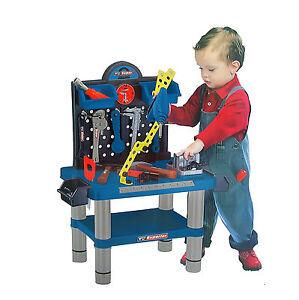 Werkstattbank 54-tlg Kinder Werkzeugbank m Werkzeug Werktisch Werkbank Spielzeug