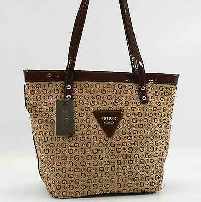 GUESS AUTHENTIC TANSY MOCHA G LOGO TOTE BAG HANDBAG PURSE NWT