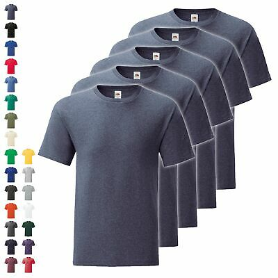 5er Pack Fruit of the Loom Iconic T Herren T-Shirt Mehrpack Größe S - 5XL NEU