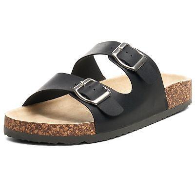 Double Strap Flats - Alpine Swiss Womens Double Strap Slide Sandals EVA Sole Flat Comfort Shoes