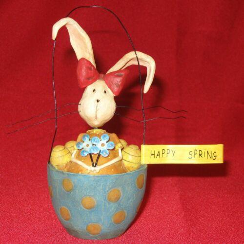 """Lang August Moon 2006 Easter Figurine """"Miss Foo Foo"""" """"Happy Spring"""""""