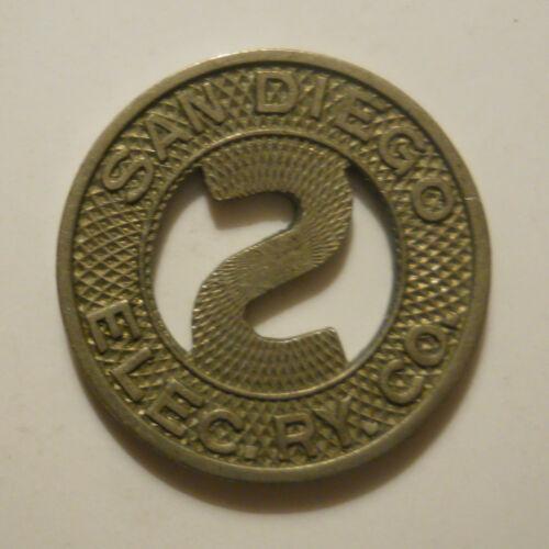 San Diego Electric Railway Company (California) transit token - CA745M