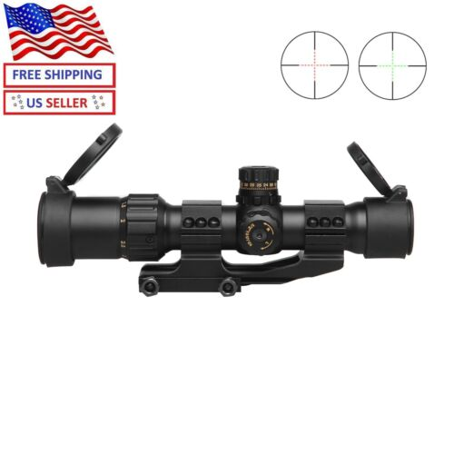"""Sniper NT1-4X28mm  Rifle Scope 5"""" Eye Relief Red/Green illuminated MOA  Reticle"""