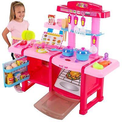 Spielküche KP8516 Spielzeug Kinder Küche mit Zubehör Rosa Kinderküche