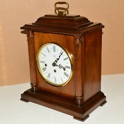 SLIGH WESTMINSTER CHIME WALNUT BRACKET 8-DAY MANTEL CLOCK