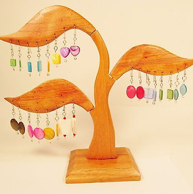 Wholesale Shell 12 PCS Handmade Drop/Dangle Earrings plus WOODEN STAND