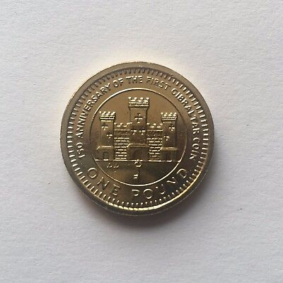 gibraltar 1989 one pound a 1 150 anniversary of the first gibraltar coin unc