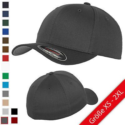 Flexfit® Wooly Combed Baseball Cap verschiedene Farben und Größen - Flex Fit Cap