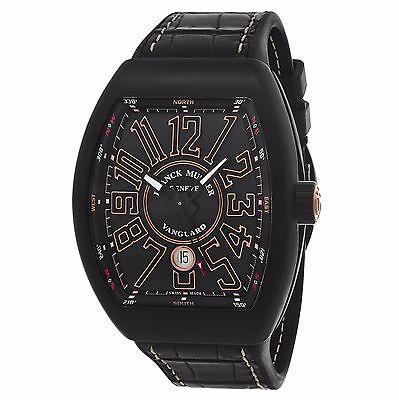 Franck Muller Men's Vanguard Black/Gold Dial Automatic Watch 45SCBLKBLKGLD
