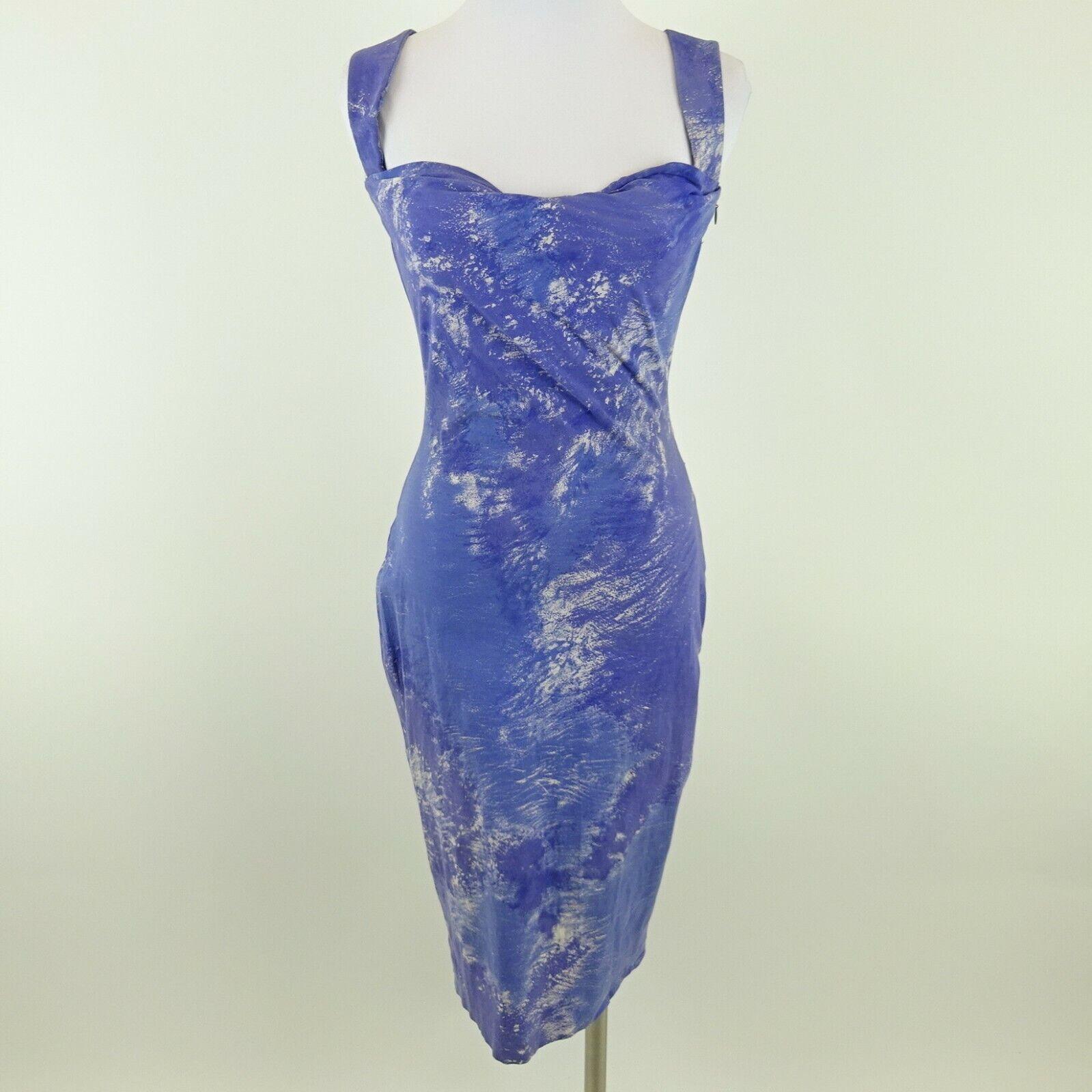 Kim Kardashian West VIVIENNE WESTWOOD Blue and White Dress S/S 1999 Size UK 10