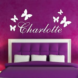 Your-Name-Personalised-Wall-Art-Stickers-Kids-Butterfly