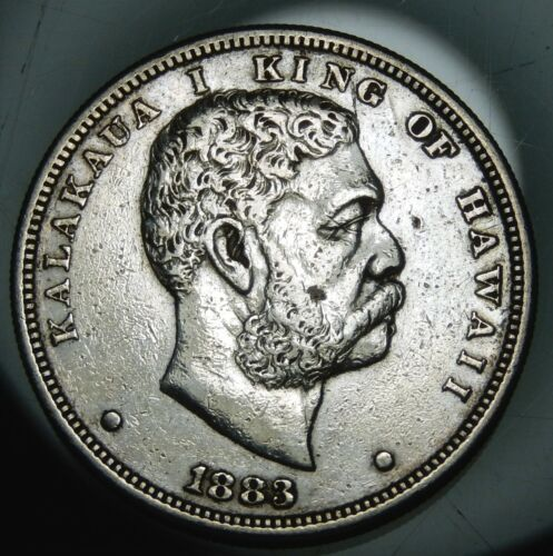 1883 Kingdom of Hawaii Silver Dollar - XF Details !!