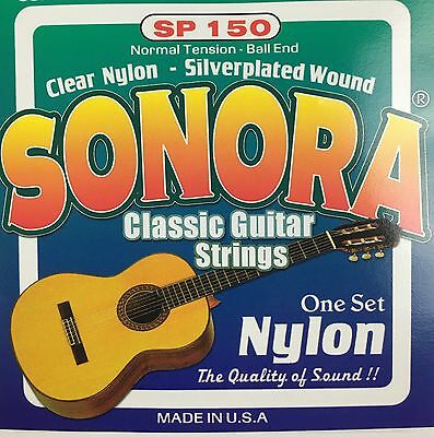 Sonora Classical Guitar Strings Ball End Nylon   Juego De Cuerdas Para Guitarra